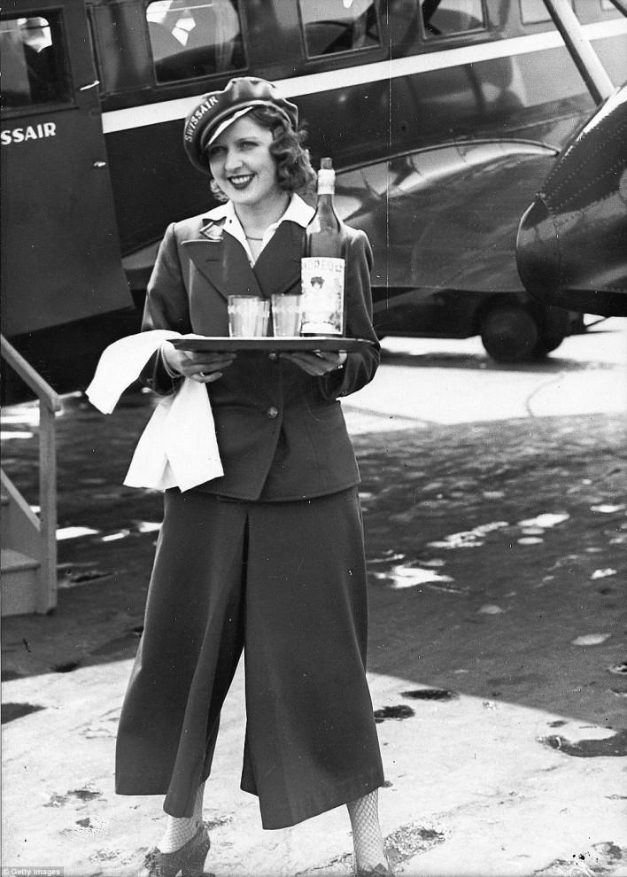 Худые и не замужем. Какими были первые стюардессы в мире. Ретро-фото 30-х годов